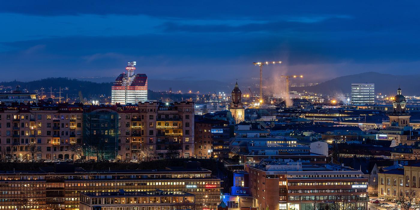 Gothenburg skyline.